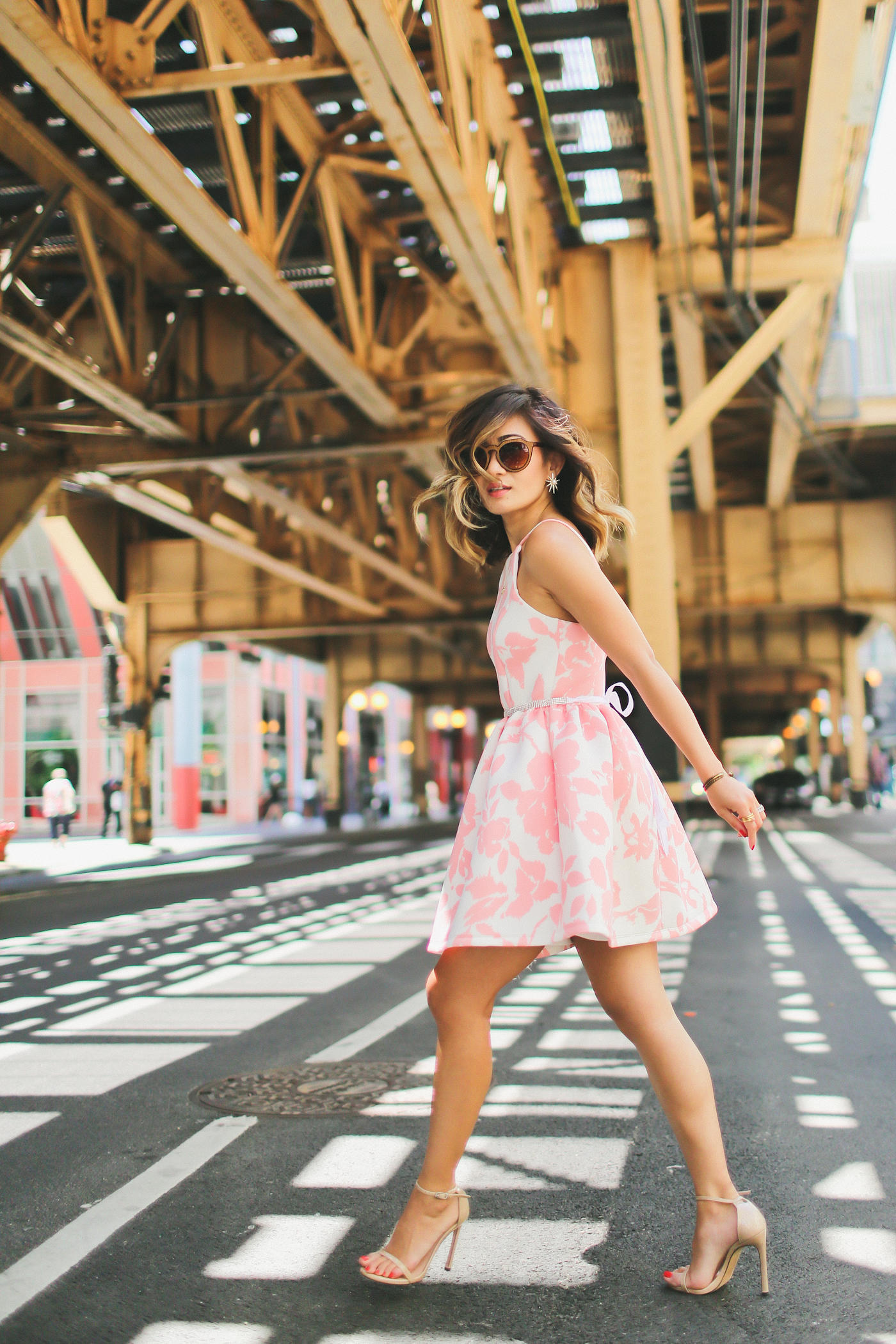 PINK FLORAL DRESS VIA GENERATION BLISS